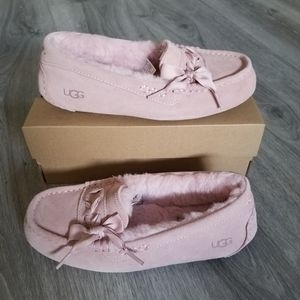 UGG Ansley Lace Suede Slippers.